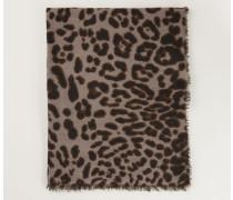Cashmereschal mit Muster 'Joy' Taupe Jaguar