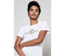 T-Shirt mit frontalem Aufdruck Weiß