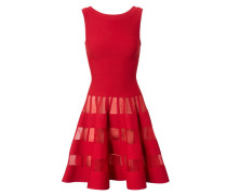 Tailliertes Kleid mit Cut-Outs Rot