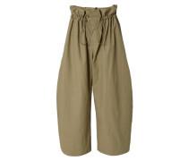 Baumwoll-Culotte mit weitem Bein Khaki