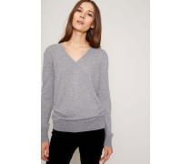 Pullover mit Knopfverzierung Grau