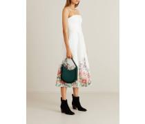 Leinenkleid 'Bellitude' mit floralem Muster Weiß