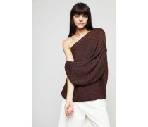 One-Shoulder Strickpullover Congac