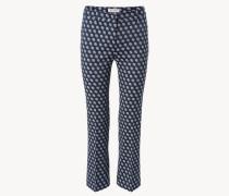 Hose mit geradem Bein Blau/Grau