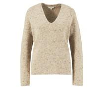 Woll-Alpaca-Pullover mit V-Neck