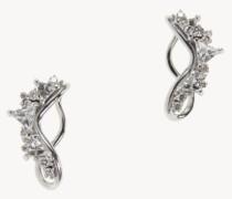 Ohrstecker 'Fusion Ear Lobe' mit Diamanten 18K Weißgold