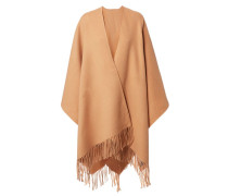 Wollcape 'Apolo Fringe' Camel