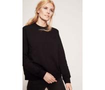 Baumwoll-Sweatshirt 'Wednesday' Schwarz