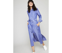 Hemdblusen-Kleid 'Mille' Bleu Fonce