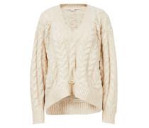 Alpaka-Woll-Pullover mit V-Neck Creme
