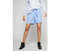 Gestreifte Shorts Blau/Weiß