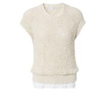 Strukturierter Pullover Vanille