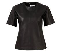 Leder T-Shirt 'Audrey'