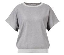 Lurex-T-Shirt /Grau