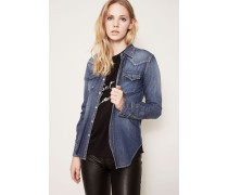 Klassisches Jeans-Hemd Blau