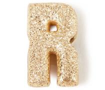 Anhänger 'Sparkly Letter R' 18K Gelbgold