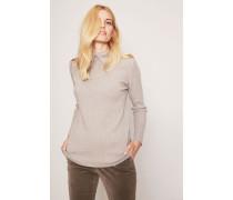 Cashmere-Pullover mit Perlen-Details Taupe