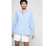 Gestreifte Oversized-Bluse Blau/Weiß