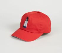 Baseballcap 'Calis' Rot/Weiß
