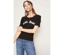 T-Shirt 'Double Trouble' Schwarz