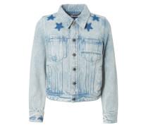 Jeansjacke mit Sternendetails Blau