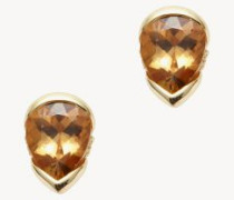 Ohrstecker 'Bloom Large Studs' mit Diamanten 18K Gelbgold
