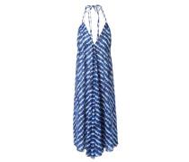 Neckholder-Kleid 'Tie Dye' Blau/Multi