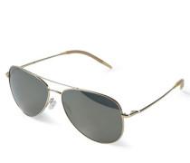 Sonnenbrille 'Kannon' in Piloten-Form Gold