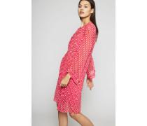 Printkleid mit Plisse-Details Pink/Multi