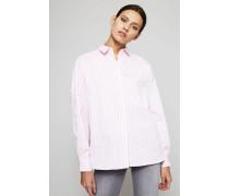 Gestreifte Oversized-Bluse Rosé