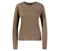 Cashmere-Pullover 'Rosanna' mit Rundhalsausschnitt Khaki