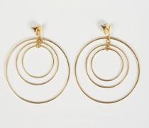 Creolen mit drei Ringen Gold