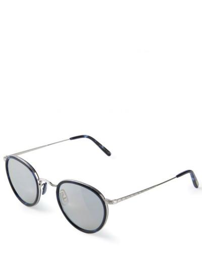 Runde Sonnenbrille 'Vintage' in Hornoptik Grau/Silber