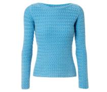 Grobstirck-Pullover 'Stella' Mittelblau