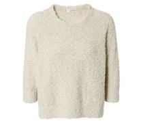 Lässiger Pullover mit flauschiger Optik Vanille