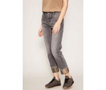 Jeans Umschlag Gold-Lurex Grau