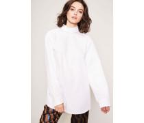 Bluse mit Stehkragen 'Contis' Weiß