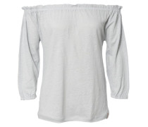 Leinen-Shirt 'Pin' Hellblau Mélange