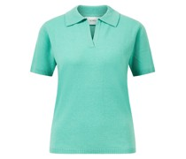 Baby-Cashmere-Polo-Shirt Green Spruce