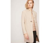 Woll-Cashmere-Mantel mit separater Steppweste Beige