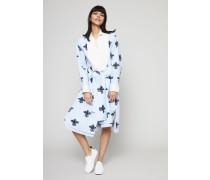 Hemdblusen-Kleid mit Print Blau/Weiß