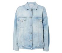 Jeansjacke mit Sternenverzierung Blau