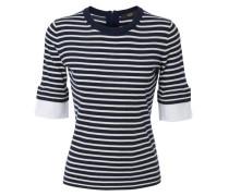 Pullover mit Manschetten-Element Navy/Weiß