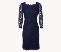 Kleid mit Spitzenverzierung 'Zarita Long' Dunkelblau