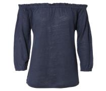 Leinen-Shirt 'Pin' Denim Mélange