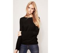 Pullover mit Plissiertem Ärmel Schwarz