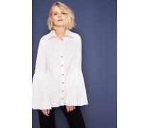 Bluse mit Ärmel-Details Weiß