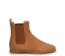 Chelsea Boots aus Veloursleder Hellbraun