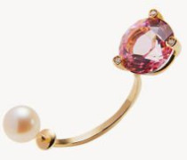 Ohrring 'Pink Gold' mit Diamanten und Topaz Gold/Pink