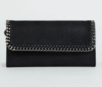 Portemonnaie mit Ketten-Umrandung Schwarz